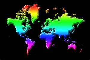 Rainbow Duvet Cover World Map Rainbow Photograph By Andrew Fare