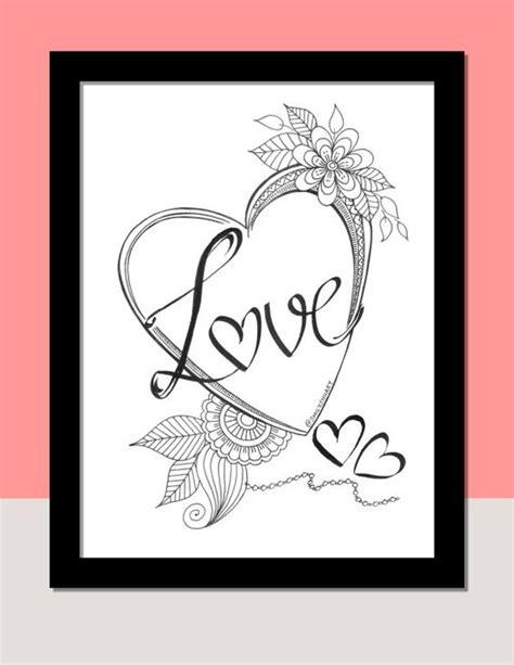printable zentangle cards love romantic zentangle heart valentine s day printable