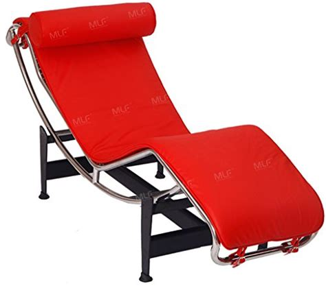 red leather chaise lounge chair product reviews buy mlf le corbusier style chaise lounge