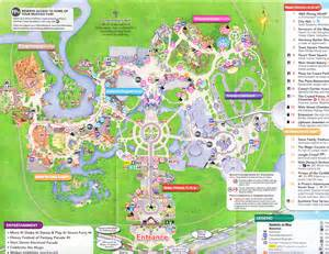 magic kingdom at walt disney world 2016 park map