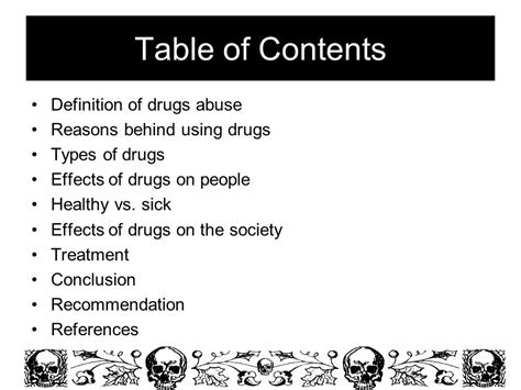 Definition Of Table Of Contents by Name Selwa Mokhtar Boularaoui Grade 12b Supervised By