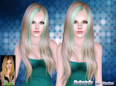 hair color to download for sims 3 skysims hair adult 147