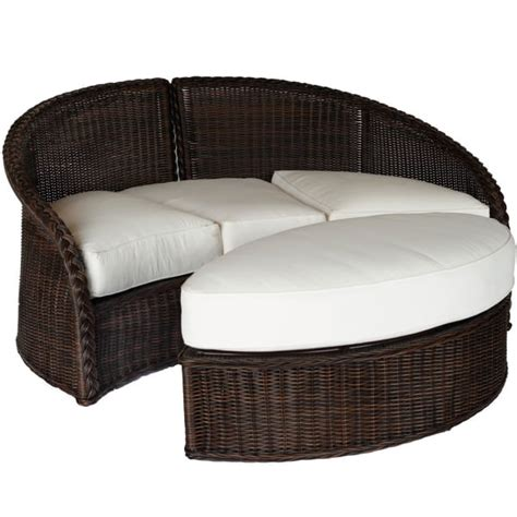 Patio Furniture Daybed Sedona Wicker Daybed By Summer Classics Outdoor Furniture