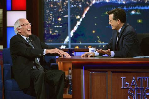 the late show bernie sanders sits down with stephen colbert on the late show nbc news