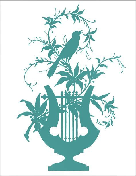 Transfer Printable   Bird with Vines   The Graphics Fairy