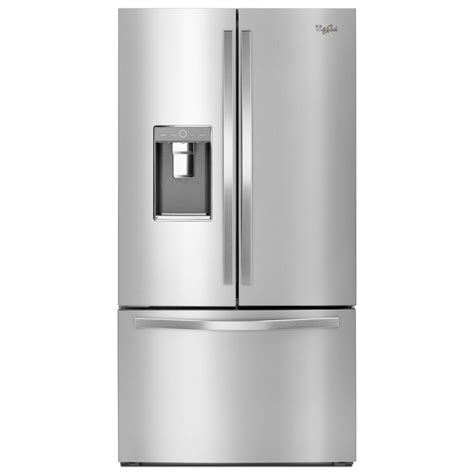 36 door refrigerator whirlpool 36 in w 31 5 cu ft door refrigerator