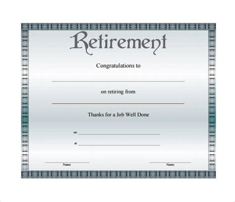 retirement template free retirement certificate template 6 documents in