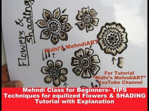 henna tattoo shading tutorial mehndi class for beginners tips techniques for equalized