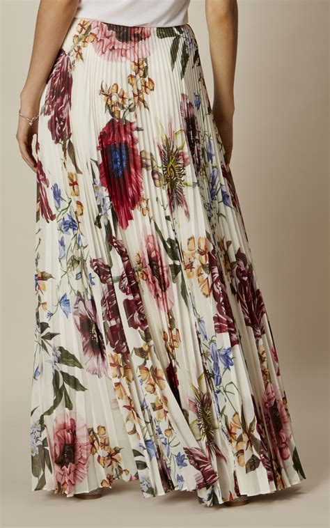 pleated floral maxi skirt millen