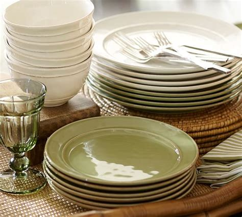Cambria Dinnerware Mint Pottery Barn