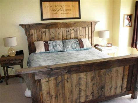 rustic wood beds rustic bed frame for the home pinterest wood beds