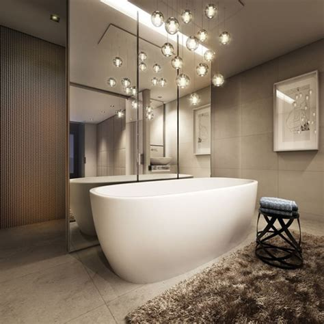 Light Above Bathtub by Sensational Pendant Lights In Stunning Bathrooms That You