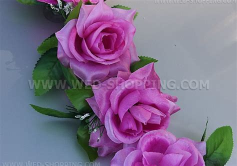 Decorate Wedding Car With Pink Flowers by Mauve Roses Wedding Car Decorating Kit