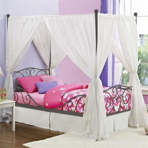 canopy bed curtain tips to make diy canopy bed