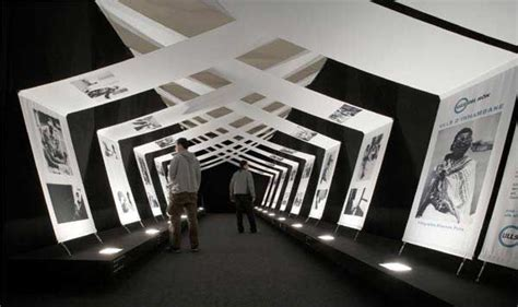 graphics design exhibitions exhibition swag beautiful use of modern draped panels to