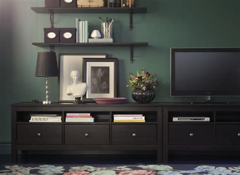 Ikea Hemnes Living Room Ideas Hemnes Tv Benches Put Side By Side Create Lots Of Low