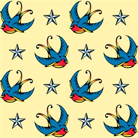 swallow tattoo fabric risarocksit spoonflower