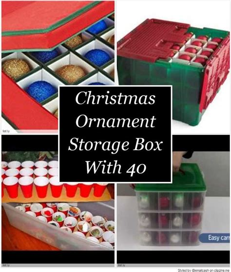 christmas ornament storage box with 40 compartments a