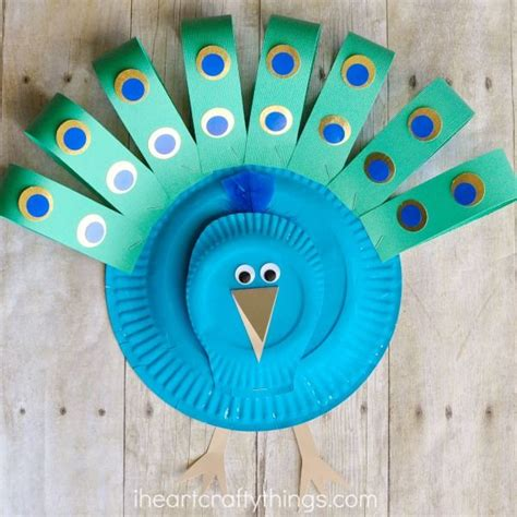 Peacock Paper Plate Craft - gorgeous paper plate peacock craft peacock crafts