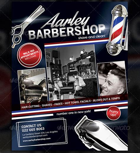 20 Best Barbershop Flyer Template Design Free Premium Templates Free Barber Shop Website Template