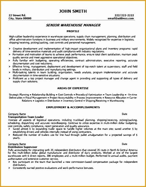 free warehouse manager resume sles 7 banking customer service resume template free sles
