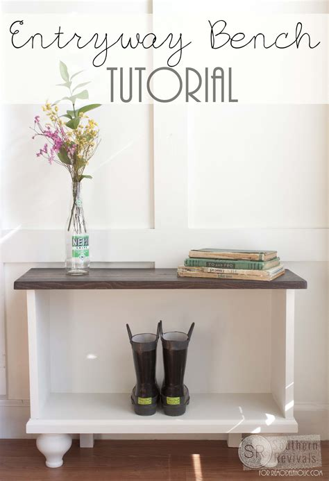 diy entryway remodelaholic diy entryway bench tutorial