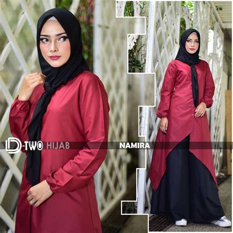 Gamis Namira namira maroon baju muslim gamis modern