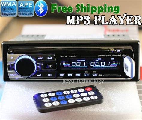12v car stereo fm radio mp3 audio player support bluetooth