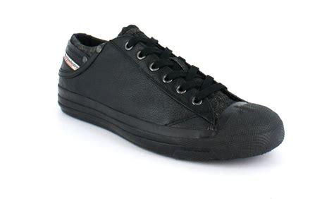 diesel exposure leather trainers black ebay