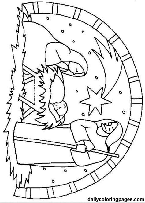 christmas coloring pages of nativity scene best photos of nativity manger scenes coloring pages