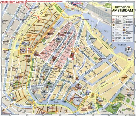 city map carte d amsterdam plan touristique amsterdam