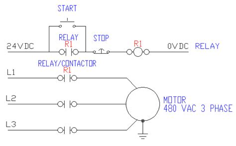 control wiring 3 wire control start stop circuit