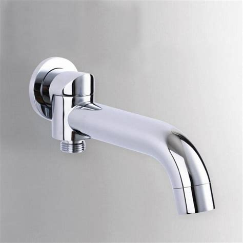Bathroom Tub Accessories Single Bathroom Faucet Accessories Rotation Tub Shower Spout Solid Brass Bath Tap Water Filler