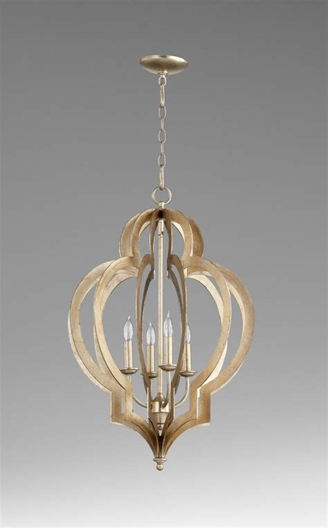 Silver Leaf Chandelier Small Vertigo Silver Leaf Chandelier By Cyan Design