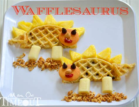 food craft for food craft wafflesaurus snack shesaved 174