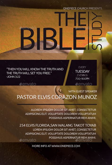 bible study church flyer  aizenacez graphicriver
