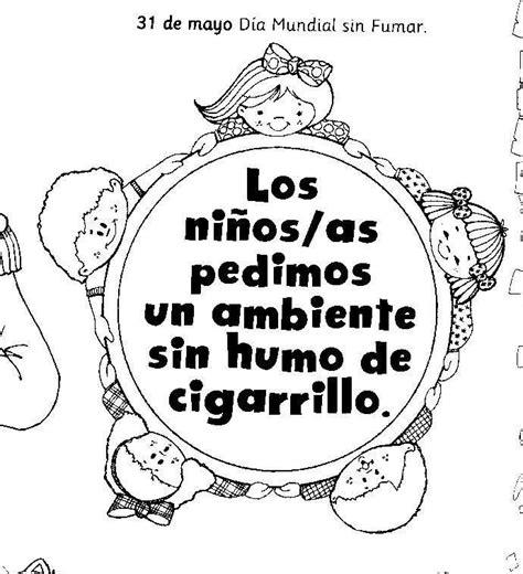 lema al da del no fumador im 225 genes para ni 241 os del d 237 a sin tabaco con dibujos para