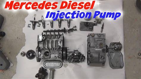 mercedes diesel injection pump teardown youtube