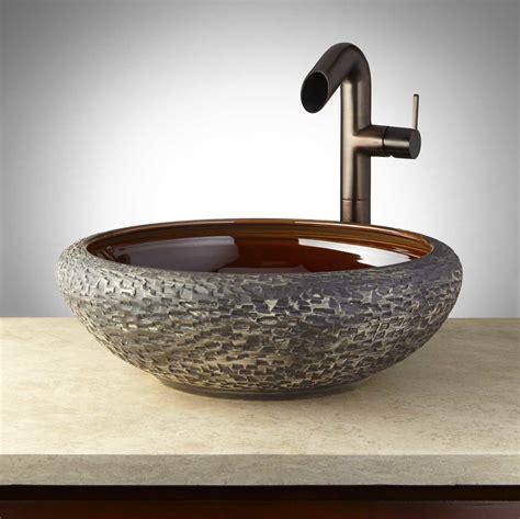 Handmade Pottery Vessel Sinks - olean glazed pottery vessel sink charcoal gray ebay
