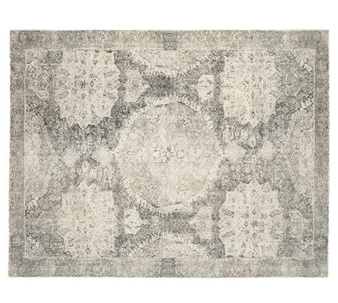 rug pottery barn barret printed rug gray pottery barn