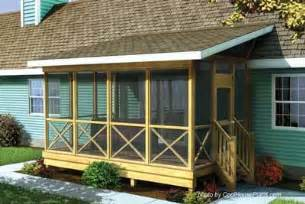 Screened In Deck Plans Screened In Porch Plans To Build Or Modify