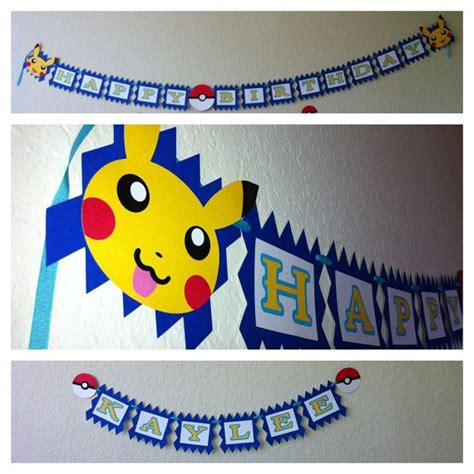 printable pokemon birthday banner 67 best images about pika party on pinterest pokemon mew