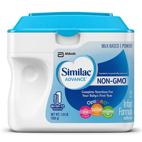 ingredients in similac total comfort similac total comfort non gmo infant formula with iron