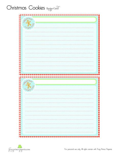 printable christmas card record book 29 best recipe card ideas images on pinterest recipe