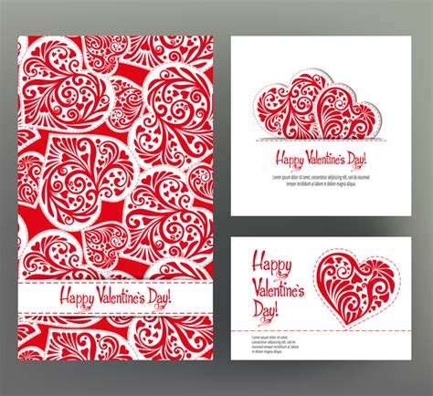 valentines day card template photoshop day card template vector kit 03 vector card
