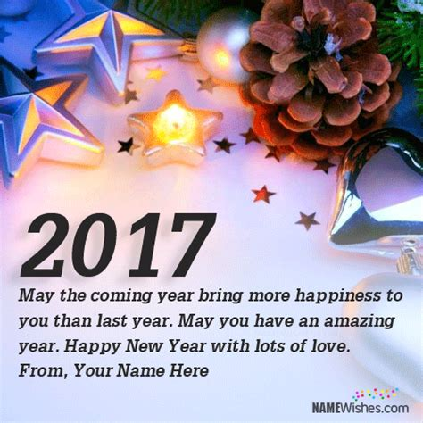 new year greeting message in characters new year wishes with name editing