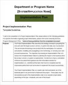 project implementation plan template free word excel