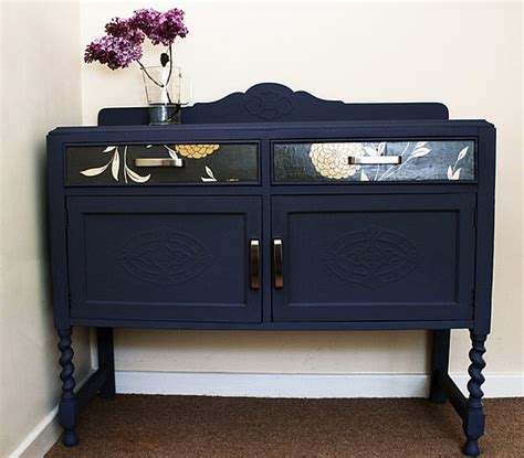 before and after an sideboard gets a hip makeover