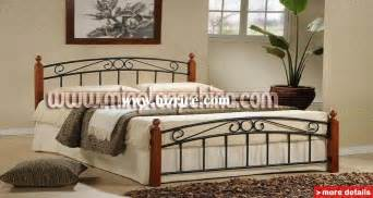 Metal Bedroom Furniture Bedroom Furniture Metal Iron Bed With Wood Slats Ml 07