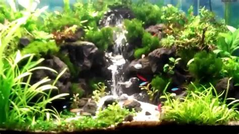 how to make aquascape waterfall aquascape youtube
